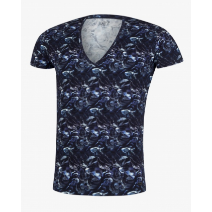 Tshirt_Homme_bleu_Fungi_de_hot_impetus