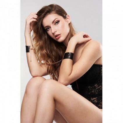 Menottes bracelets Désir Métallique noir - Bijoux Indiscrets