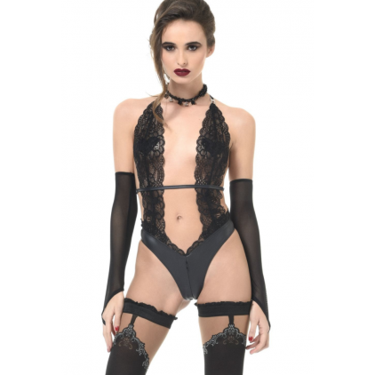 Body string wetlook et dentelle Camille de Patrice Catanzaro
