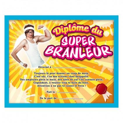 "Diplôme ""Super branleur"""