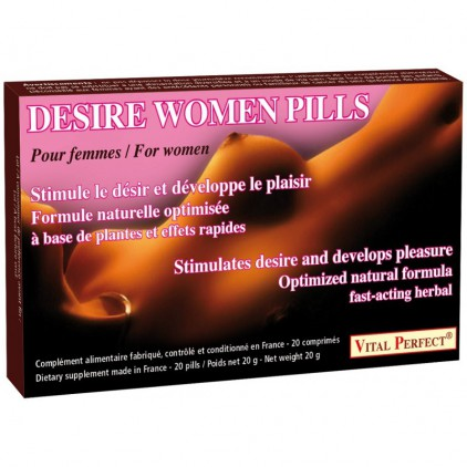 Stimulant sexuel pour femme - Desire Women 20 comprimés
