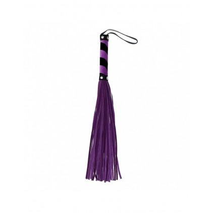 Fouet_40_lanières_cuir_rimba_noir_violet