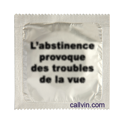 L'abstinence provoque des troubles de la vue - Préservatif humoristique
