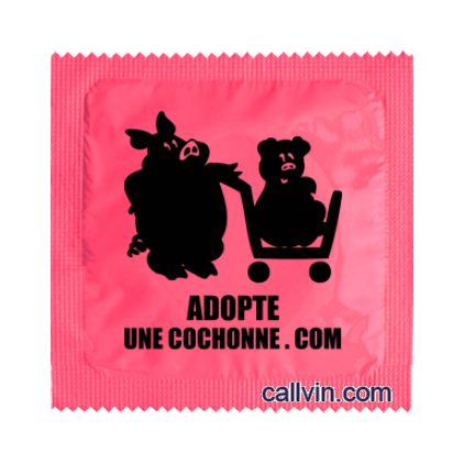 Adopte une cochonne - Préservatif humoristique