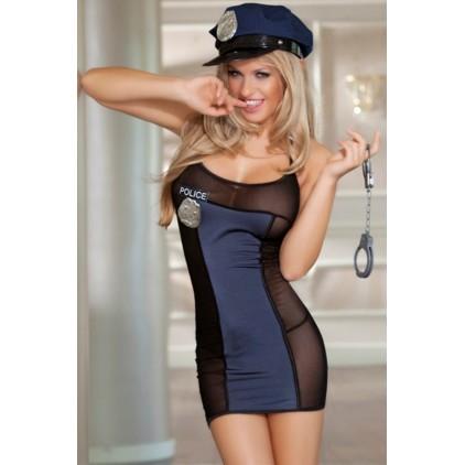 Tenue Sexy 4 pièces Agent de Police