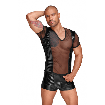 T_shirt_homme_tulle_wetlook_decadence_noirhandmade