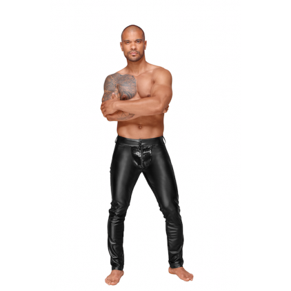Pantalon_Homme_wetlook_decadence_noirhandmade