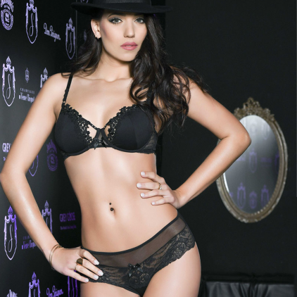 Soutien-gorge bonnets pleins collection « BORSALINO » de Luxxa Lingerie.