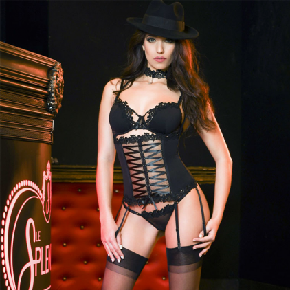 Guêpière collection « BORSALINO » de Luxxa Lingerie