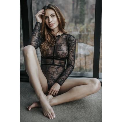 Body manches longues et dos nu – Petite Noir