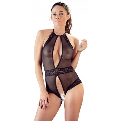 Body ouvert col halter – Cottelli Collection Lingerie
