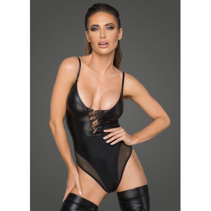 Body corset wetlook - Noir Handmade