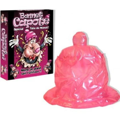 Chapeau gonflable preservatif