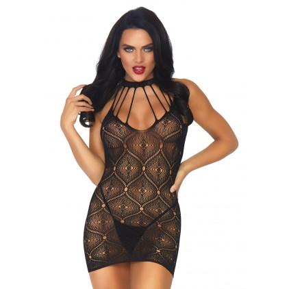 Mini robe sexy en maille extensible - Leg Avenue