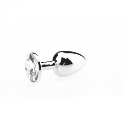 Bijou_Plug_Anal_Aluminium_Cristal_Small