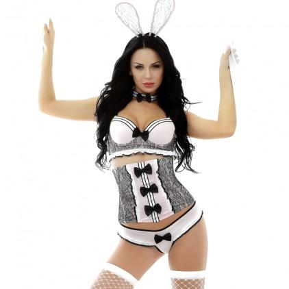 Costume érotique Bunny - 6 pièces