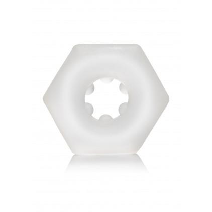 Anneau_Pénien_Hexagonal_Silicone_Transparent_Calexotics