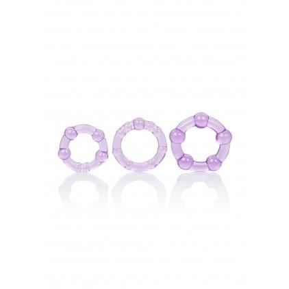 Set de 3 Anneaux_Péniens_Violets_Island_Rings_CalExotics