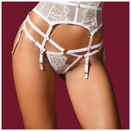 String_Giselle_Blanc_&_Reflets_Argent_Impudique_By_Catanzaro