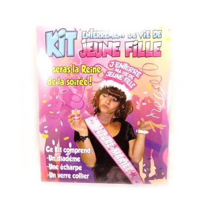 Kit Enterrement de Vie de Jeune Fille - 3 Pièces