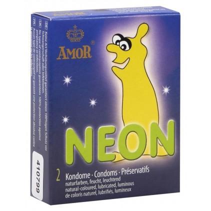 Amor Neon Condoms x2