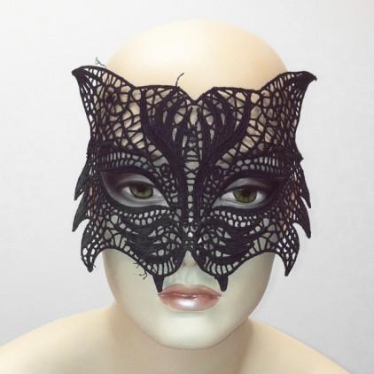 Chatte Sauvage - Masque en dentelle semi rigide noire