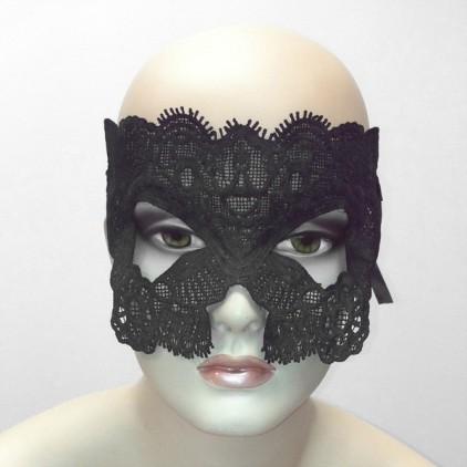 Mille et Une Nuits - Masque en dentelle semi rigide noire