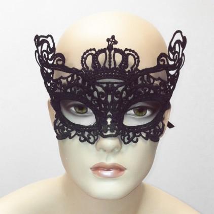 Votre Majesté - Masque en dentelle semi rigide noire