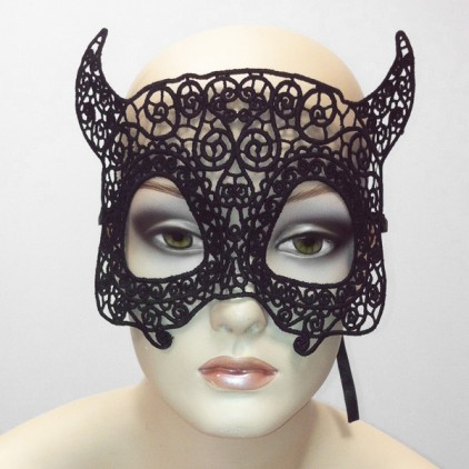 Mythologie - Masque en dentelle semi rigide noire