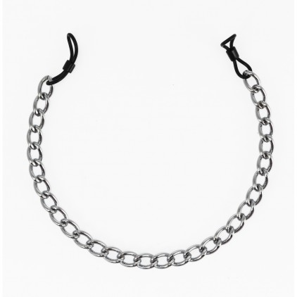 Pinces à seins caoutchouc avec chainette métal