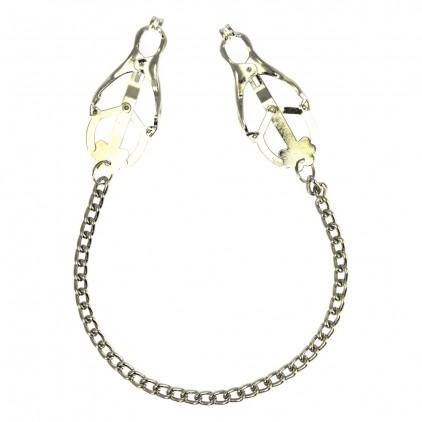 Pinces à seins métal avec chaîne métal longue