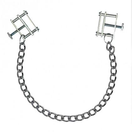 Pinces à seins étaux métal avec chaîne métal