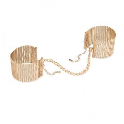 Menottes bracelets Désir Métallique - or