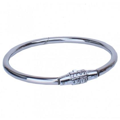 Collier metal rond - cadenas à code