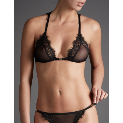 "Soutien-gorge triangle Shadow ""Irresistible Attraction"" - Atelier Amour"